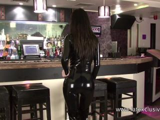 Lilly Black Latex Catsuit