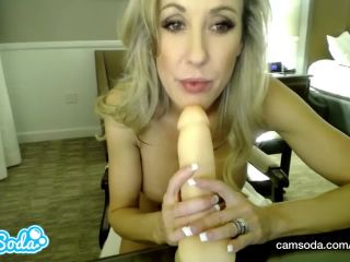 Brandi love big tits milf deep throating and fucking dildo!