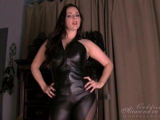 jenni lee femdom Goddess Alexandra Snow - Leather Tit Worship, femdom pov on pov