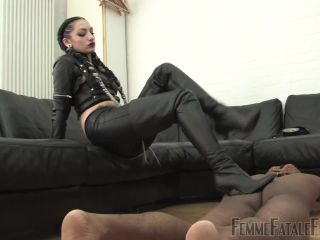 Femmefatalefilms: Cybill Troy - Cybills Way - Complete Film - leather - femdom porn itching fetish