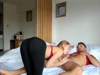 Stunning Teen in Leggings Tries a Big Cock and Facial - Eva Veil