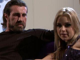 Sarah Vandella Takes on a Monster Dong!, fishnet fetish on blonde porn