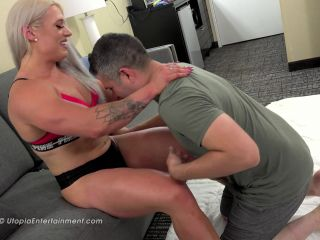 mistress fetish femdom porn | Utopia's Sexy Mixed Wrestling – I'm Bigger, Better and Stronger than you  – Woman Bodybuilder, Muscle Domination | reverse figure 4