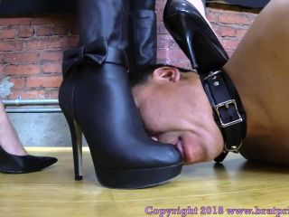 Brat Princess - Amadahy, Sasha - Shoe Licker Dominated by Brats (1080 HD)!!!