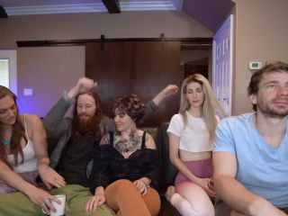 My 1st Orgy - Feat. SexyHippies & JackplusJill - everyone Cums on Frankie during Group Sex Cam Show p1