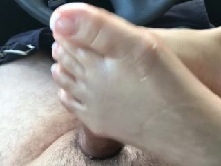 Footjob french