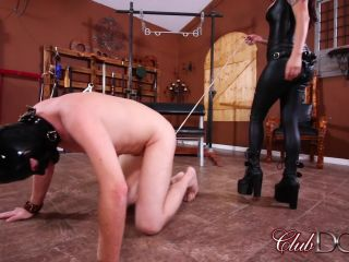 Club Dom - Miss Roper - Dungeon Slave: Strap On Fucked!!!