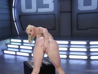 Sexy Blonde Babe Gets Machine Fucked for the First Time on femdom porn lisa ann fetish