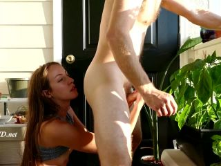 HJ/Milked on the Balcony – Lily Anne