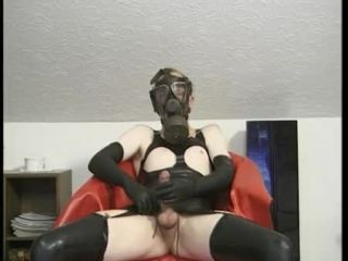 Awesomeinterracial.com- Freaky Guy in Latex and Gas Mask
