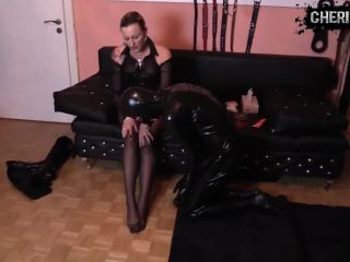horny Foot Jerk-off Latex Slave And Good Lick (, 44