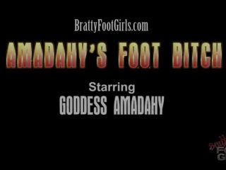 Bratty Foot Girls – Goddess Amadahy – Amadahy's Foot Bitch