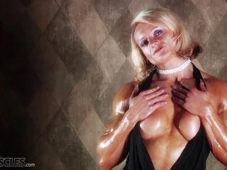 Brigita is a muscle worshiper dream come true