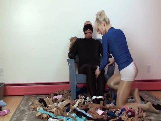 free femdom cams femdom porn | Teaseandthankyou - Helpless Pantyhose Leg Humper | handjob domination