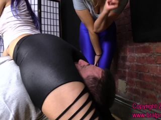 Brat Princess 2 Amadahy And Kendall Double Princess Scissorhold And Facesit Slave