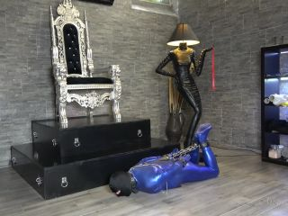 """HOGTIED SHOE LICKER"" (1080 HD) (BONDAGE, ITALIAN FEMDOM, SHOE WORSHIP, HUMAN ASHTRAY)"