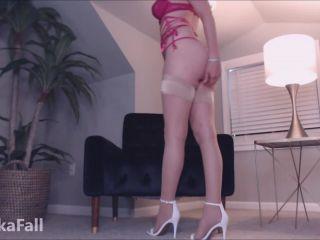 Anika Fall - Long Legs In Nylons - femdom - femdom porn czech femdom