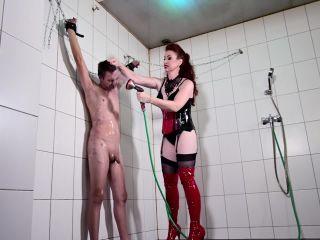 Mistress Lady Renee - Mistress sprays you on masturbation porn femdom stockings
