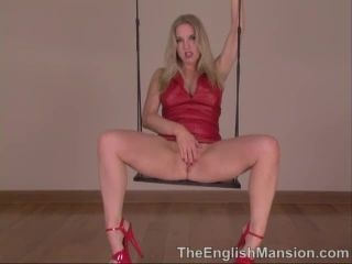 Red Leather Pussy Peek
