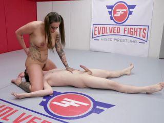 Evolved Fights – Sam Solo, Tori Avano, femdom ballbusting on creampie