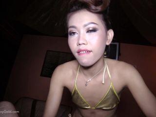 LadyboyGold - Many - Gold Bikini Bareback ATM HJ  - ladyboy - anal porn anal retentive synonym