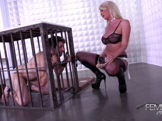Femdomempire - Riley Jenner - Strap-on Fuck Meat on muscle vintage anal porn