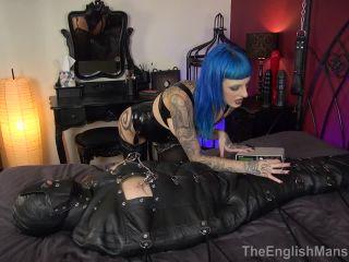 TheEnglishMansion: Mistress Bliss - Bound Anal Pound - Part 4 - cock locked - tattoo latex big tits bdsm