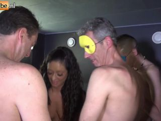 Big ass nette milf has a kinky gangbang with a lot of big dicks in a sex dungeon