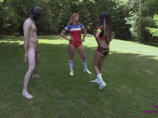 BP2 – Amadahy and Jennifer – Soccer Style Penalty Ball Kicks   fetish   fetish porn girl fart fetish