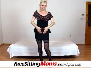 Slim stockings legsro cougar maya bushy vagina cfnm facesitting