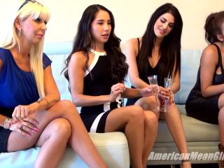 American Mean Girls - Goddess Harley, Princess Aria, Princess Bella, Princess Carmela, Queen Kasey - Chosen Foot Slave!!!