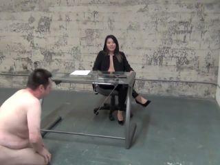 Goddess angelina ballting at the office