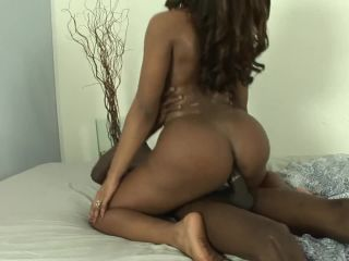 Big butt shemale mara lopes gets off on big black cock up her ass!