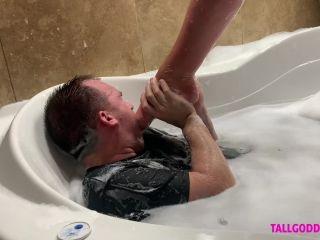 holly michaels femdom TallGoddessGia: Bathtub Foot Domination, big feet on feet