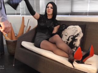 Gloves – Young Goddess Kim – Servant training instructions on femdom porn femdom bi cuckold