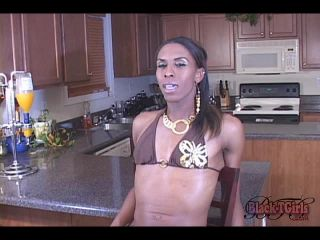 Online shemale video Meyoko Strokes In The Kitchen