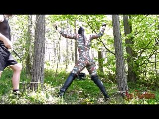 Caught the enemy - Punished and roughly fucked in forest submissive wh ...