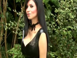 lesbian panty fetish Lilly Roma – Black latex dress, tease and denial on fetish porn