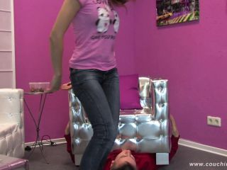 Online porn Couching Club - Petite Russian Adriana crushes her slave - Human Furniture
