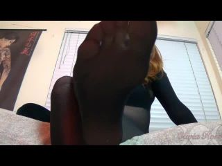 olivia rose - black bodystockinged feet