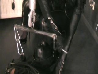 Hung and forced duck in the leather bag Part 2.