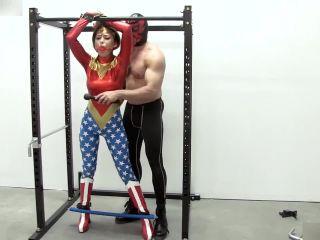Wonder girl in bondage