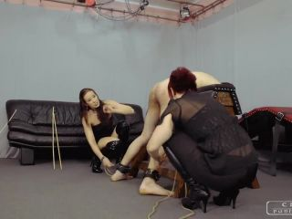 Miss Noel Knight – Triple pain –  Mistress Anette and Mistress Maggie – Unusual, Domina Amazon on femdom porn winter fetish