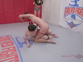 EvolvedFights – Sofie Marie vs Fluffy – Mixed Wrestling – Annilingus, Female Domination - foot licking - lesbian asian foot femdom