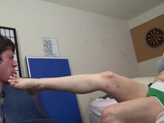 Brutal slapping with hands and feet by Miss Kate Storm.