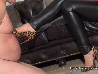 fetish play Dirty Dommes: Fetish Liza - Hot Chick Torture And Cum, shoe slave on fetish porn