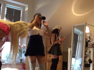 Insta Girls have a wild try on no panties party for their Youtuber BFF ! LESBIAN GIRLS - [lovely-milf.com] video