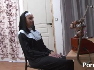 Nun gets fisted and a cock in her ass!?