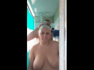 Razor shave shower sex