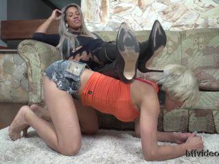 Lesbian Foot Worship – Bffvideos – Worship My Big Sweaty Feet Of Boots Pt.1